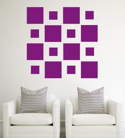 Purple Squares--Wall Decal
