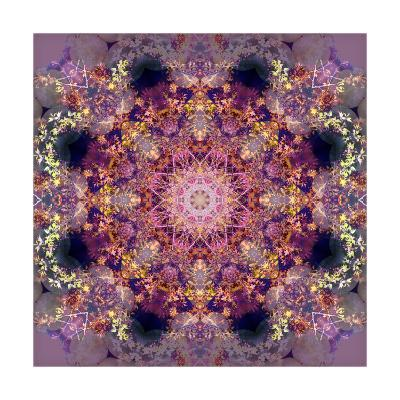 Purple Tree and Flower Mandala-Alaya Gadeh-Art Print