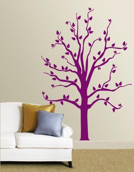 Purple Tree--Wall Decal