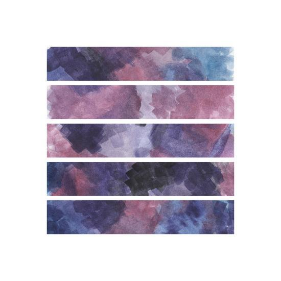 Purple Watercolor Stripes-Uralstales-Art Print