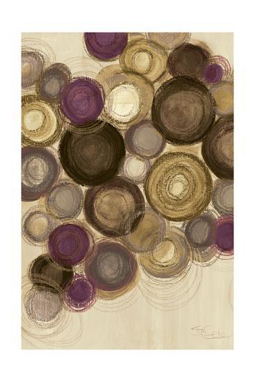 Purple Whimsy II Circles-Jeni Lee-Art Print