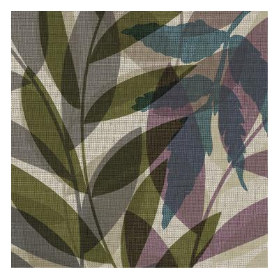 Purple Yellow Leaves Mate-Kristin Emery-Art Print