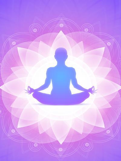 Purple Yoga Faith Meditation-Wonderful Dream-Art Print
