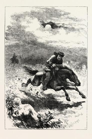 Pursuit of Paul Revere, the Scout, USA, 1870s--Giclee Print