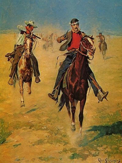Pursuit or the Attack-Charles Shreyvogel-Art Print