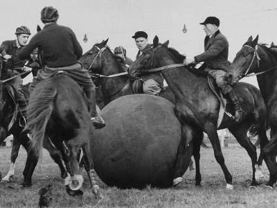 Push Ball Game at the Annual Horse Show at the Hippodrome--Photographic Print