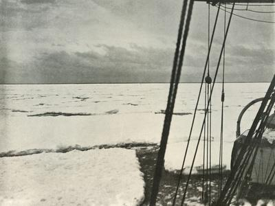 'Pushing Through Heavy Floes In the Ross Sea', c1908, (1909)-Unknown-Framed Photographic Print