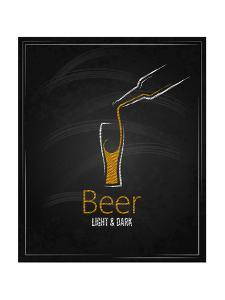 Beer Glass Chalkboard Menu Background by Pushkarevskyy
