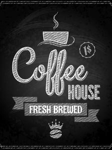 Coffee Menu Design Chalkboard Background by Pushkarevskyy