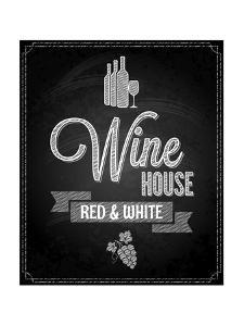 Wine Menu Design Chalkboard Background by Pushkarevskyy
