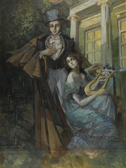 Pushkin and the Muse-Konstantin Alexeyevich Korovin-Giclee Print