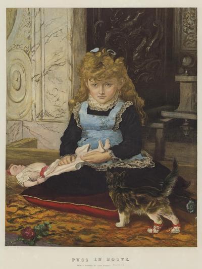 Puss in Boots-John Everett Millais-Giclee Print