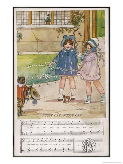 Pussy Cat Pussy Cat Where Have You Been?-Dorothy Wheeler-Giclee Print