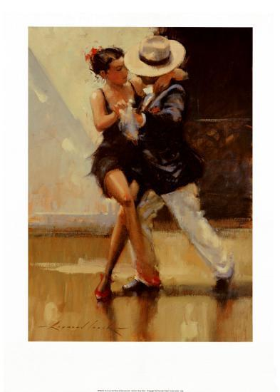 Put on Your Red Shoes-Raymond Leech-Art Print