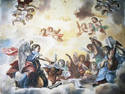 Putti and Musicians, Frescoed Ceiling, Pernstejn Castle--Giclee Print