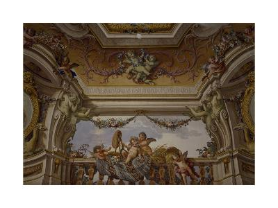Putti Playing, Detail of Frescoed Ceiling-Fedele Fischetti-Giclee Print
