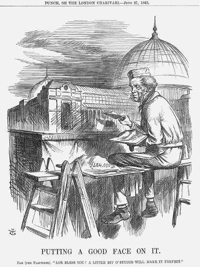 Putting a Good Face on It, 1863-John Tenniel-Giclee Print