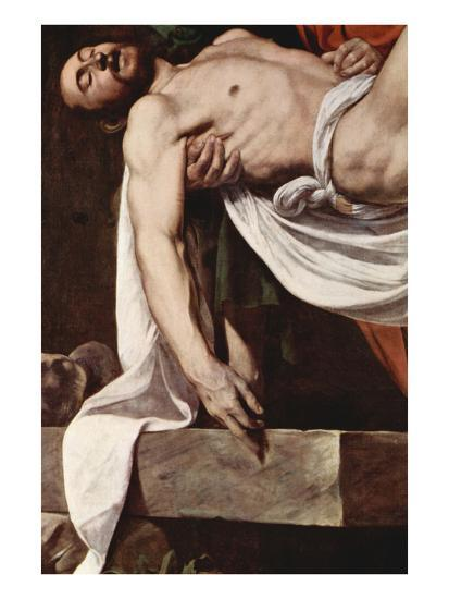 Putting Christ in the Tomb-Caravaggio-Art Print