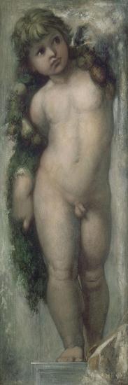 Putto (copie d'une fresque de l'Académie de Saint-Luc à Rome)-Gustave Moreau-Giclee Print