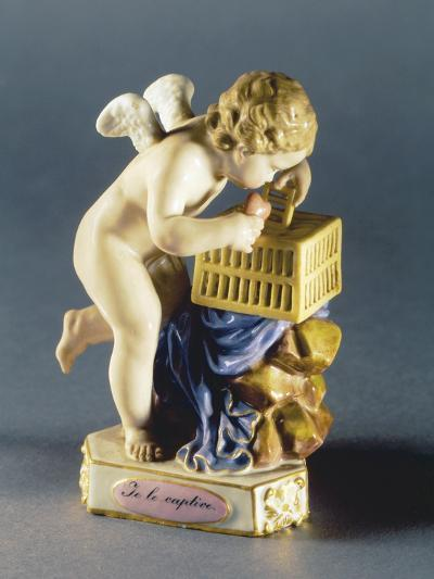 Putto Figure, Circa 1770, Meissen Manufacture, Saxony, Germany--Giclee Print