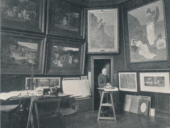 'Puvis De Chavannes in his Studio', c1897-Unknown-Photographic Print