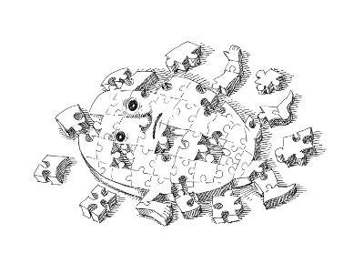 Puzzle - Cartoon-John O'brien-Premium Giclee Print