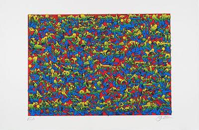 Puzzle I - Rot-Oliver Loetz-Collectable Print