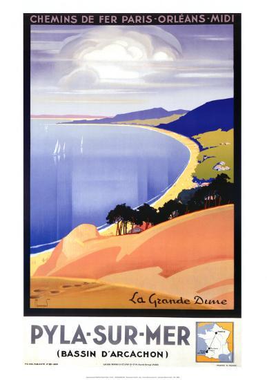 Pyla-Sur-Mer-Pierre Commarmond-Art Print