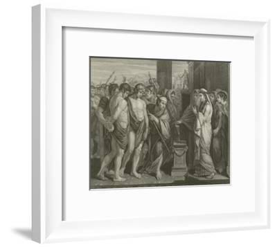 Pylades and Orestes-Benjamin West-Framed Giclee Print