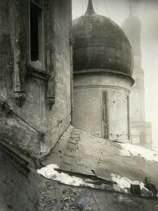 The Cathedral of the Dormition in the Moscow Kremlin after Shelling in November 1917 by Pyotr Petrovich Pavlov