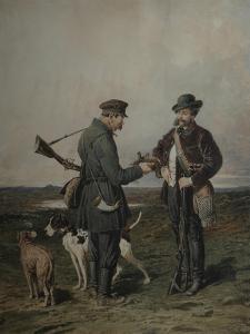 Hunters, 1864 by Pyotr Petrovich Sokolov