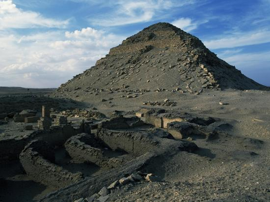 Pyramid and Mortuary Temple of Neferirkare, Abusir, Old Kingdom, Dynasty V--Giclee Print