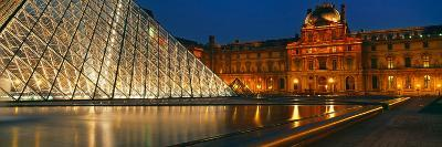Pyramid at a Museum, Louvre Pyramid, Musee Du Louvre, Paris, France--Photographic Print