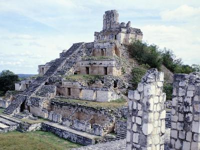 Pyramid in Edzna--Giclee Print