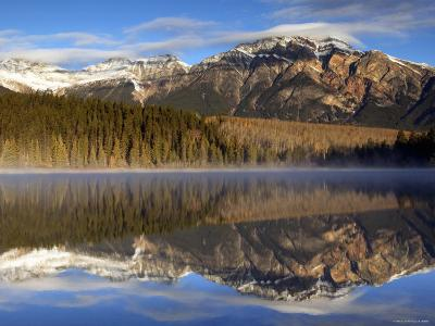 Pyramid Lake, Jasper National Park, Alberta, Canada-Walter Bibikow-Photographic Print