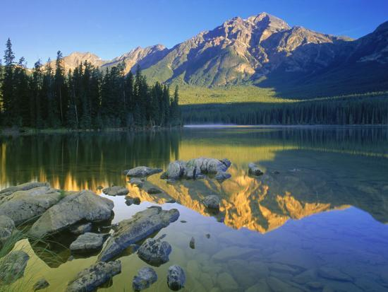 Pyramid Mt. at Sunrise, Canada-Kevin Law-Photographic Print