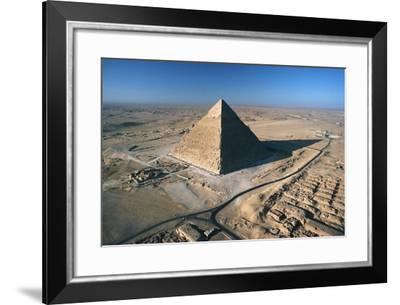 Pyramid of Khafre, Giza Necropolis--Framed Photographic Print