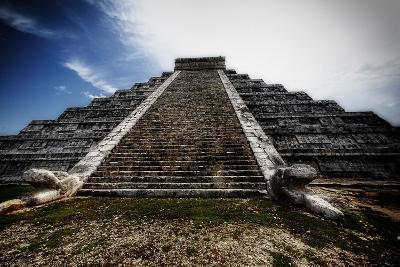 Pyramid of Kukulcan, Chichen Itza, Mexico-George Oze-Photographic Print