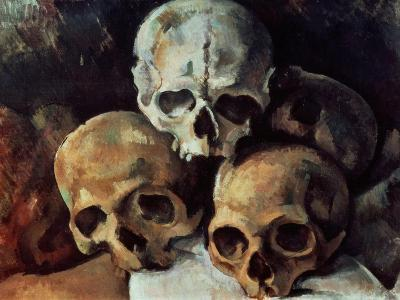 Pyramid of Skulls, 1898-1900-Paul C?zanne-Giclee Print