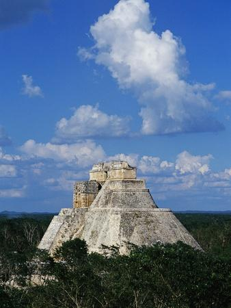 Pyramid of the Magician at Uxmal-Danny Lehman-Photographic Print