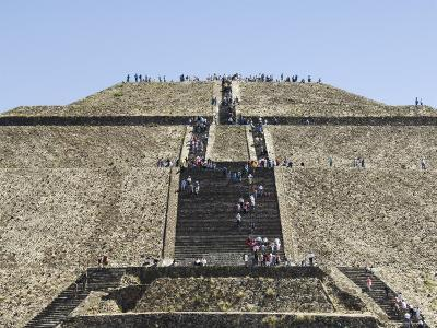 Pyramid of the Sun, Teotihuacan, 150Ad to 600Ad and Later Used by the Aztecs, North of Mexico City-R H Productions-Photographic Print