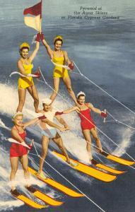 Pyramid of Water Skiers, Cypress Gardens, Florida
