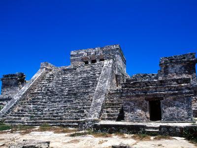 Pyramid Ruins in Tulum, Mexico-Bill Bachmann-Photographic Print