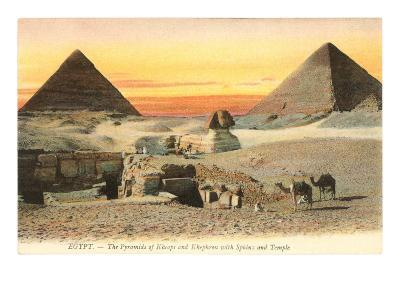 Pyramids and Sphinx, Egypt--Art Print