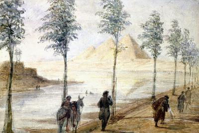 Pyramids at Giza, Egypt, 19th Century-Hector Horeau-Giclee Print