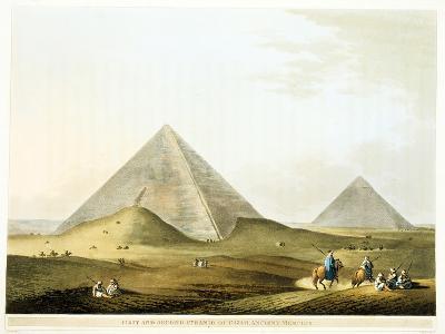 Pyramids at Giza, Egypt, 4th Dynasty, Old Kingdom, 26th Century BC-Luigi Mayer-Giclee Print