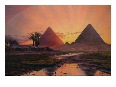 Pyramids at Gizeh-Thomas Seddon-Art Print