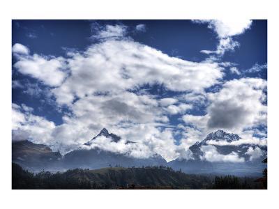 Pyramids Mountains and Clouds-Nish Nalbandian-Art Print