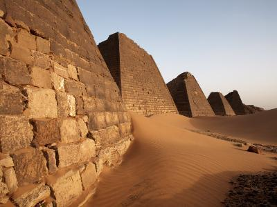 Pyramids of Meroe, Sudan's Most Popular Tourist Attraction, Bagrawiyah, Sudan, Africa-Mcconnell Andrew-Photographic Print
