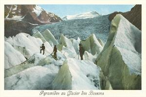Pyramids of the Bossons Glacier, French Alps